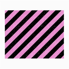 Stripes3 Black Marble & Pink Colored Pencil (r) Small Glasses Cloth by trendistuff