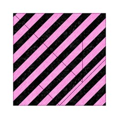 Stripes3 Black Marble & Pink Colored Pencil (r) Acrylic Tangram Puzzle (6  X 6 ) by trendistuff