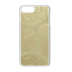 Modern, Gold,polka Dots, Metallic,elegant,chic,hand Painted, Beautiful,contemporary,deocrative,decor Apple Iphone 7 Plus White Seamless Case by 8fugoso