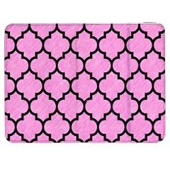 Tile1 Black Marble & Pink Colored Pencil Samsung Galaxy Tab 7  P1000 Flip Case by trendistuff