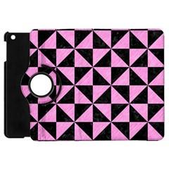 Triangle1 Black Marble & Pink Colored Pencil Apple Ipad Mini Flip 360 Case by trendistuff