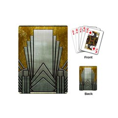 Art Nouveau Gold Silver Playing Cards (mini)  by 8fugoso