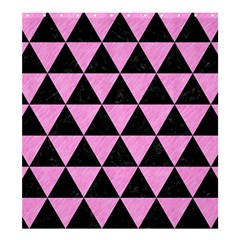 Triangle3 Black Marble & Pink Colored Pencil Shower Curtain 66  X 72  (large)  by trendistuff
