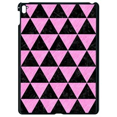 Triangle3 Black Marble & Pink Colored Pencil Apple Ipad Pro 9 7   Black Seamless Case by trendistuff