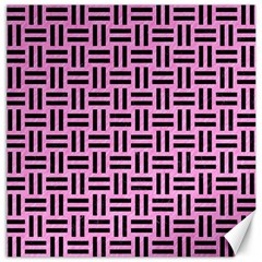 Woven1 Black Marble & Pink Colored Pencil Canvas 16  X 16   by trendistuff