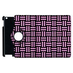 Woven1 Black Marble & Pink Colored Pencil (r) Apple Ipad 3/4 Flip 360 Case by trendistuff