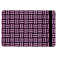 Woven1 Black Marble & Pink Colored Pencil (r) Ipad Air Flip by trendistuff