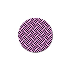 Woven2 Black Marble & Pink Colored Pencil Golf Ball Marker (10 Pack) by trendistuff