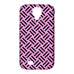 Woven2 Black Marble & Pink Colored Pencil Samsung Galaxy S4 Classic Hardshell Case (pc+silicone) by trendistuff