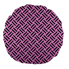Woven2 Black Marble & Pink Colored Pencil Large 18  Premium Flano Round Cushions by trendistuff