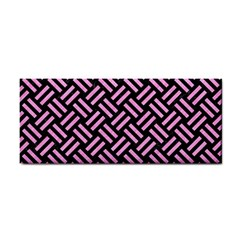 Woven2 Black Marble & Pink Colored Pencil (r) Cosmetic Storage Cases by trendistuff