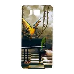 Funny Parrots In A Fantasy World Samsung Galaxy Alpha Hardshell Back Case by FantasyWorld7
