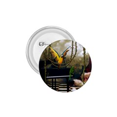 Funny Parrots In A Fantasy World 1 75  Buttons by FantasyWorld7