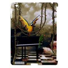 Funny Parrots In A Fantasy World Apple Ipad 3/4 Hardshell Case (compatible With Smart Cover) by FantasyWorld7