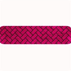 Brick2 Black Marble & Pink Leather Large Bar Mats by trendistuff