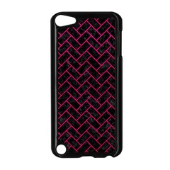 Brick2 Black Marble & Pink Leather (r) Apple Ipod Touch 5 Case (black) by trendistuff