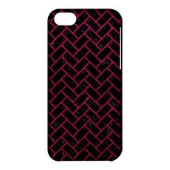 Brick2 Black Marble & Pink Leather (r) Apple Iphone 5c Hardshell Case by trendistuff