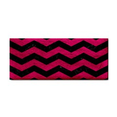 Chevron3 Black Marble & Pink Leather Cosmetic Storage Cases by trendistuff