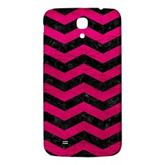 Chevron3 Black Marble & Pink Leather Samsung Galaxy Mega I9200 Hardshell Back Case by trendistuff