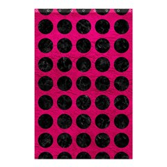 Circles1 Black Marble & Pink Leather Shower Curtain 48  X 72  (small)  by trendistuff