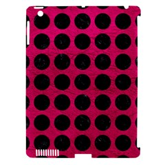 Circles1 Black Marble & Pink Leather Apple Ipad 3/4 Hardshell Case (compatible With Smart Cover) by trendistuff