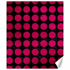 Circles1 Black Marble & Pink Leather (r) Canvas 8  X 10  by trendistuff