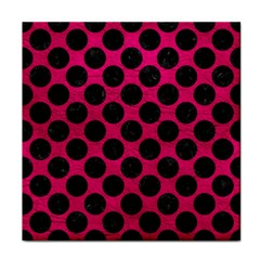 Circles2 Black Marble & Pink Leather Face Towel by trendistuff