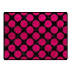 Circles2 Black Marble & Pink Leather (r) Fleece Blanket (small) by trendistuff