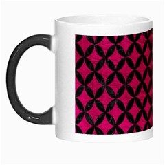 Circles3 Black Marble & Pink Leather Morph Mugs by trendistuff