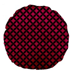 Circles3 Black Marble & Pink Leather Large 18  Premium Flano Round Cushions by trendistuff