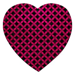 Circles3 Black Marble & Pink Leather (r) Jigsaw Puzzle (heart) by trendistuff