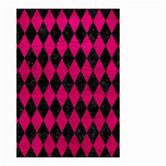 Diamond1 Black Marble & Pink Leather Small Garden Flag (two Sides) by trendistuff