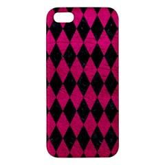 Diamond1 Black Marble & Pink Leather Iphone 5s/ Se Premium Hardshell Case by trendistuff