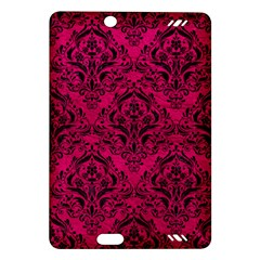 Damask1 Black Marble & Pink Leather Amazon Kindle Fire Hd (2013) Hardshell Case by trendistuff