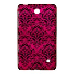 Damask1 Black Marble & Pink Leather Samsung Galaxy Tab 4 (7 ) Hardshell Case  by trendistuff