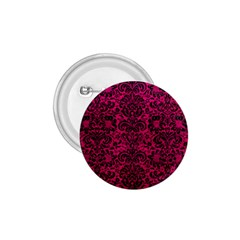 Damask2 Black Marble & Pink Leather 1 75  Buttons