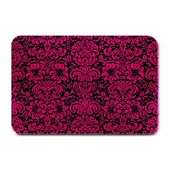 Damask2 Black Marble & Pink Leather (r) Plate Mats by trendistuff