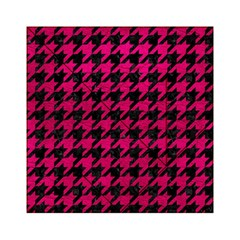 Houndstooth1 Black Marble & Pink Leather Acrylic Tangram Puzzle (6  X 6 ) by trendistuff