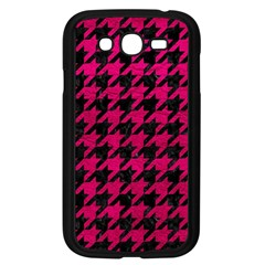 Houndstooth1 Black Marble & Pink Leather Samsung Galaxy Grand Duos I9082 Case (black) by trendistuff
