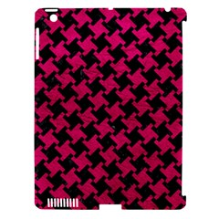 Houndstooth2 Black Marble & Pink Leather Apple Ipad 3/4 Hardshell Case (compatible With Smart Cover) by trendistuff