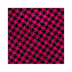 Houndstooth2 Black Marble & Pink Leather Acrylic Tangram Puzzle (6  X 6 ) by trendistuff