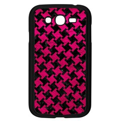 Houndstooth2 Black Marble & Pink Leather Samsung Galaxy Grand Duos I9082 Case (black) by trendistuff