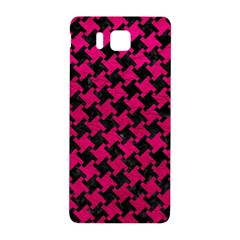 Houndstooth2 Black Marble & Pink Leather Samsung Galaxy Alpha Hardshell Back Case by trendistuff