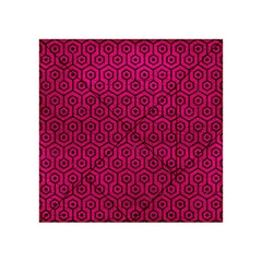Hexagon1 Black Marble & Pink Leather Acrylic Tangram Puzzle (4  X 4 ) by trendistuff