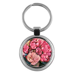 Beautiful Peonies Key Chains (round)  by 8fugoso