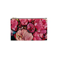 Beautiful Peonies Cosmetic Bag (small)  by 8fugoso