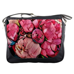 Beautiful Peonies Messenger Bags by 8fugoso