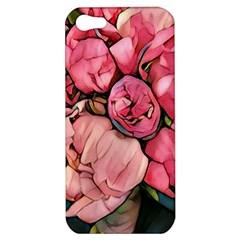 Beautiful Peonies Apple Iphone 5 Hardshell Case by 8fugoso