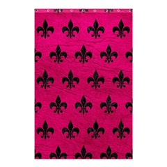 Royal1 Black Marble & Pink Leather (r) Shower Curtain 48  X 72  (small)  by trendistuff