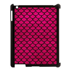 Scales1 Black Marble & Pink Leather Apple Ipad 3/4 Case (black) by trendistuff
